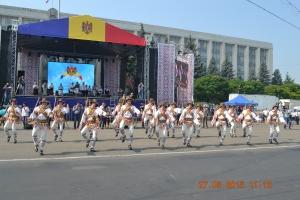 Schiţe din dansul Căluşarii în Piaţa Marii Adunări Naţionale, 2015